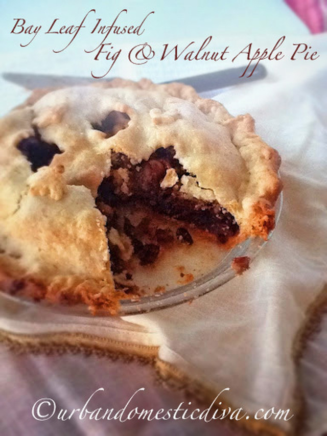 RECIPE: Bay Leaf Infused Fig and Walnut Apple Pie