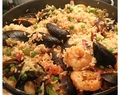Holiday seafood paella