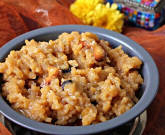 Sakkarai Pongal / Indian Rice Pudding With Jaggery