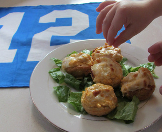 Buffalo Chicken Mini Muffin Poppers