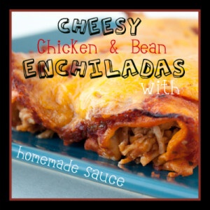 Cheesy Chicken Enchiladas with Homemade Sauce