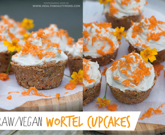 Raw vegan: Wortel cupcakes