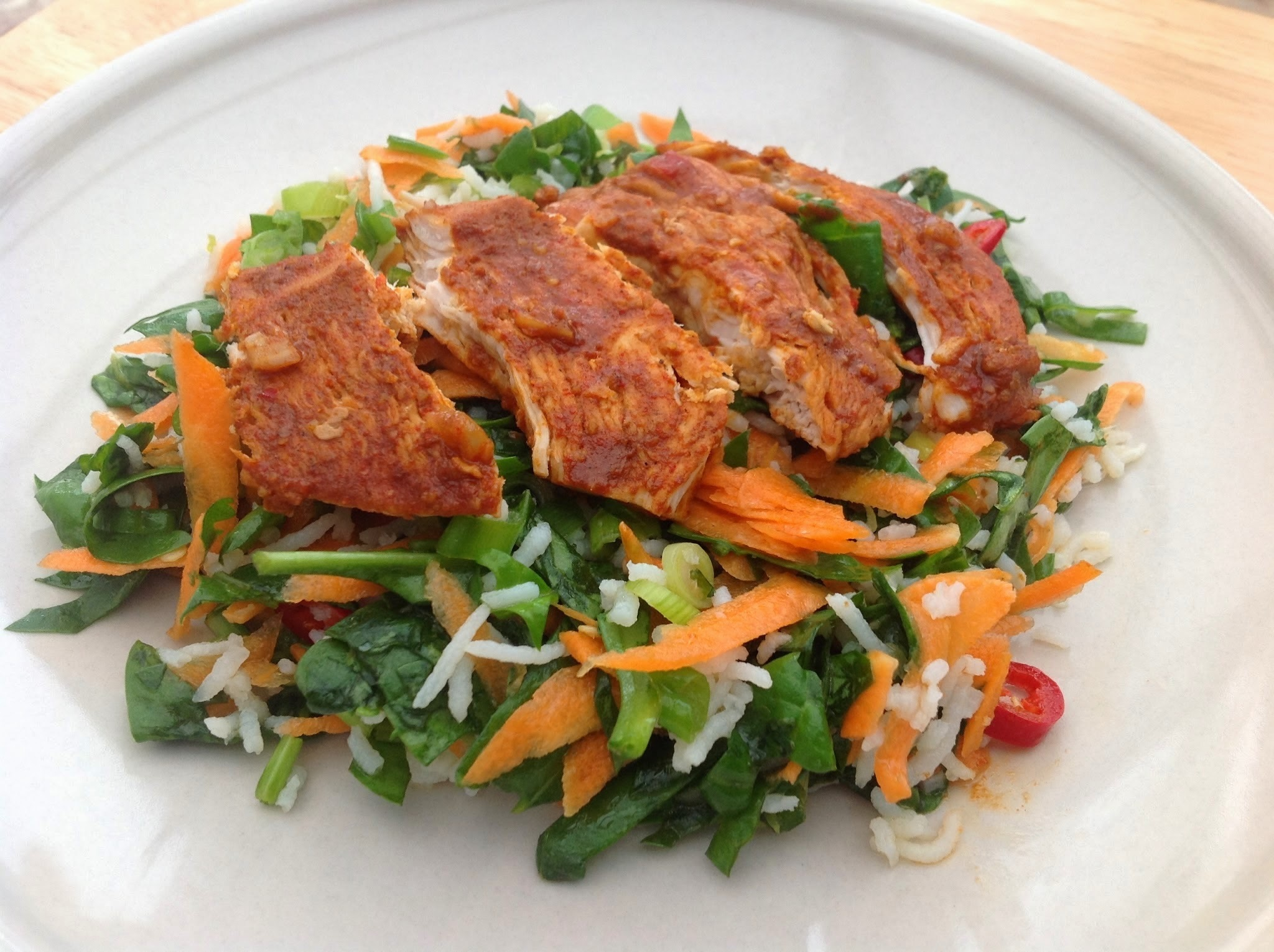 Spicy Chicken with Zesty Rice Salad