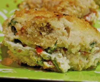 Ricotta. Tomato and Spinach Stuffed Chicken
