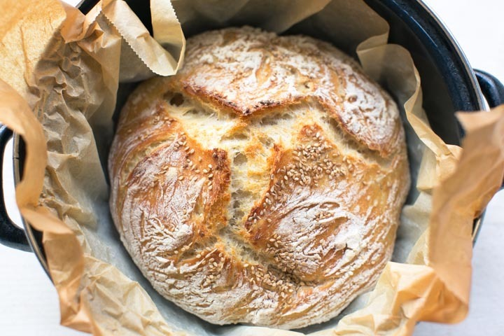 No knead brood recept