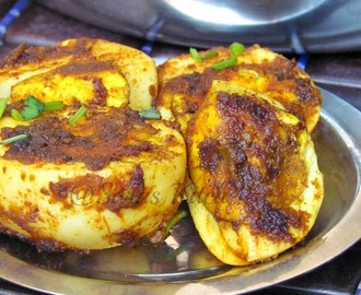 Fried Masala Eggs / Muttai Veruval