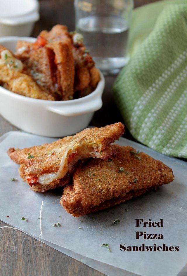 Fried Pizza Sandwiches