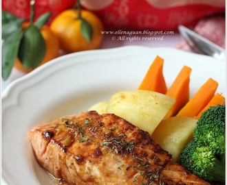 Grilled Salmon With Orange Marmalade