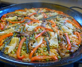 Roasted Vegetable Paella - Perfect For Christmas Dinner! Vegan and Gluten Free