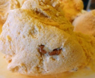 Creamy Vegan Pumpkin Pecan Ice Cream - Made With So Delicious Coconut Milk Creamer