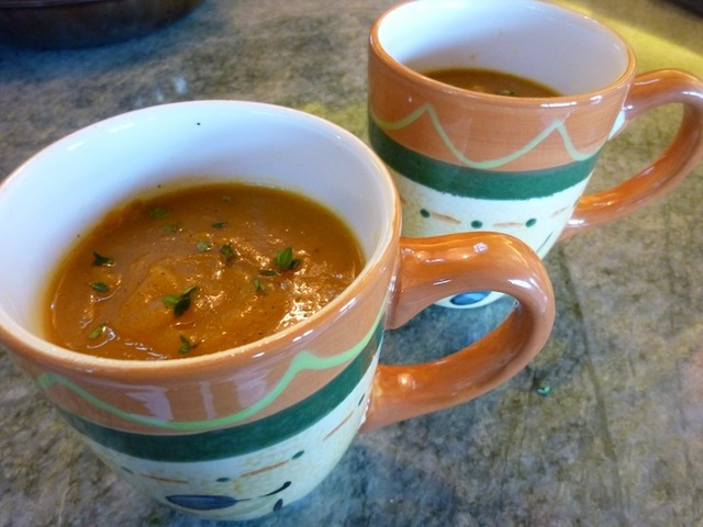 Vegan Butternut Squash Soup With Fresh Figs - Gluten Free, Low Calorie And Low Fat