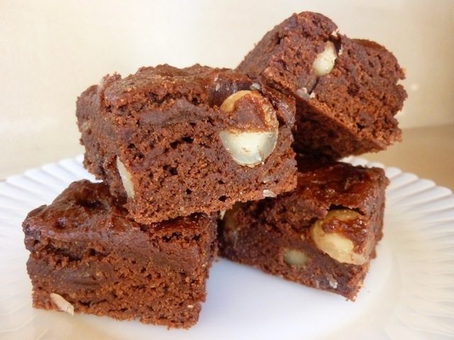 Best Ever Vegan Brownies With Macadamia Nuts And Chocolate Chips - Low Calorie And Guilt Free. Perfect For Valentines Day!