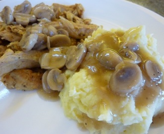 How To Make Healthy, Low Fat, Creamy Vegan Mashed Potatoes. Also, A Recipe For Mushroom Gravy And  A Delicious Vegan Substitute For Sliced Turkey.