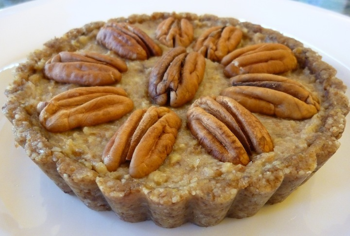 Go Nuts For This Raw Vegan Pecan Pie, Made As Cute Little Tarts - A Great Thanksgiving Dessert