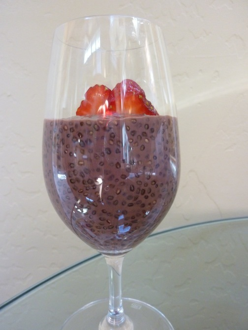 Vegan Chocolate Chia Seed Pudding - Rich, Creamy And A Great Source Of Omega 3 Fatty Acid And Soy Protein