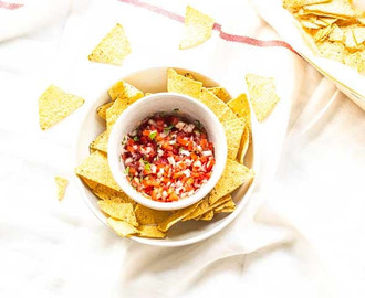 Mexicaanse pico de gallo salsa