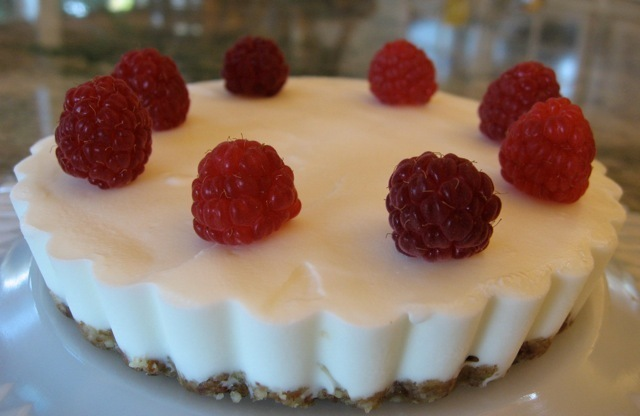 Ice Cream Tart with Raspberries—Vegan Ice Cream, Frozen Yogurt and Goat Milk Ice Cream Options