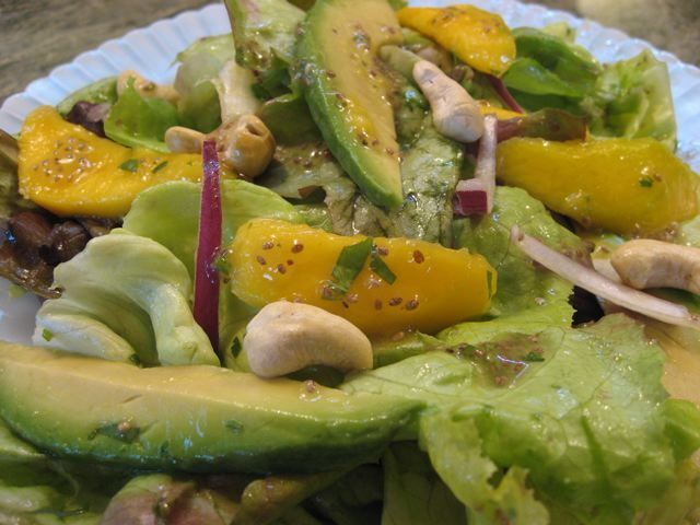 Mango Avocado Salad With Lime Chia Seed Dressing