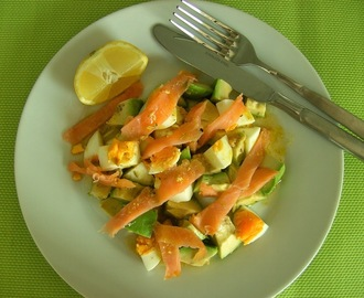 Alea iacta est - Avocado Salad with Egg and Salmon