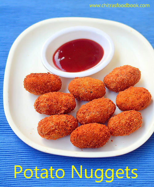 Potato Nuggets Recipe – Crispy Potato Cheese Balls Recipe