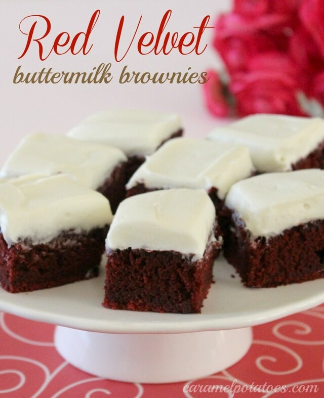 Red Velvet Buttermilk Brownies with Cream Cheese Frosting