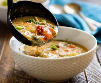 Coconut Chicken Thai Soup with Pineapple