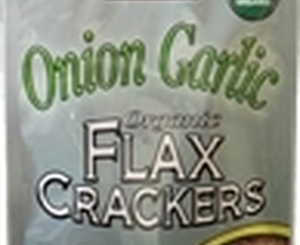 Organic Onion Garlic Flax Crackers From Foods Alive