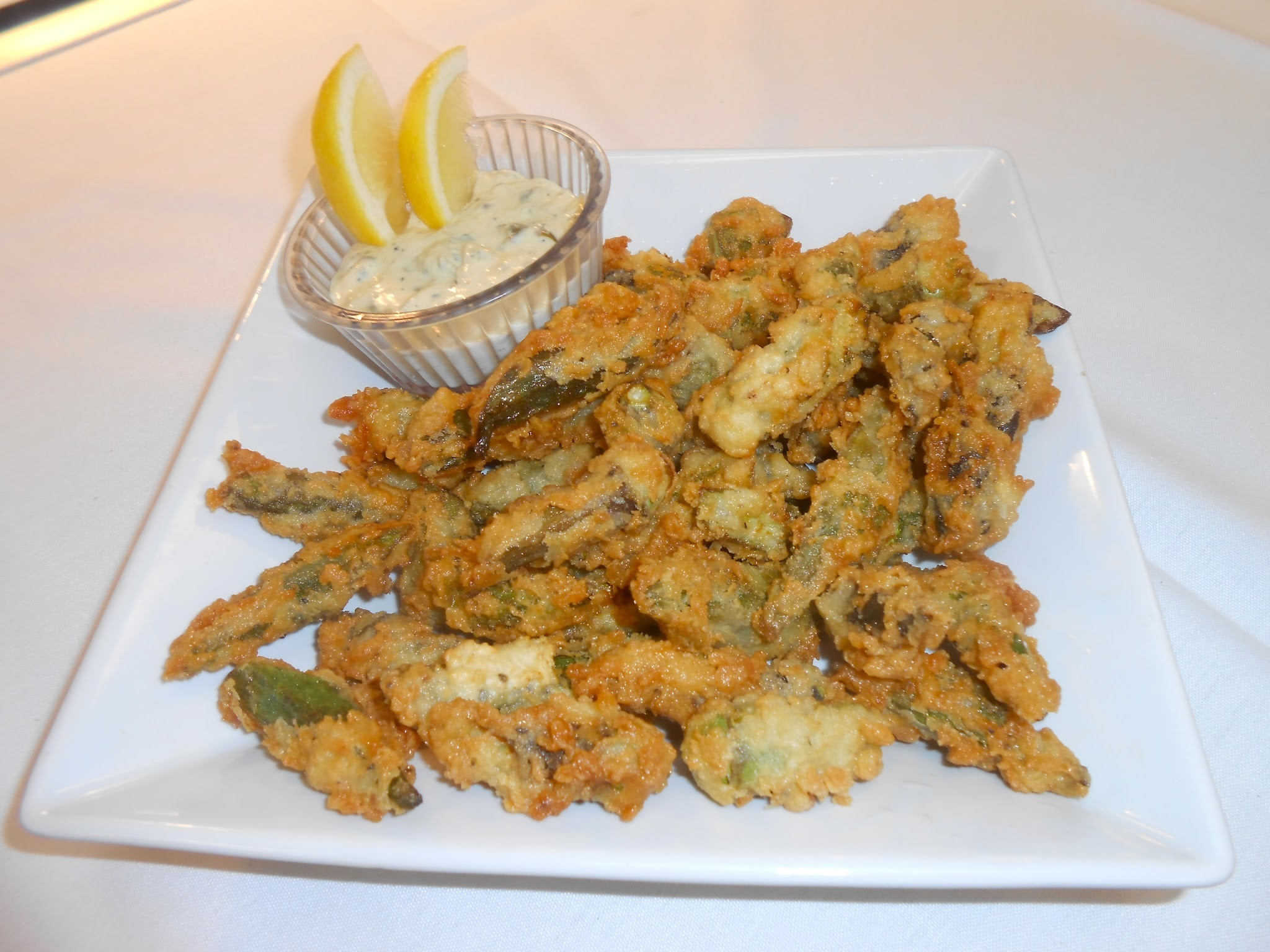 Southern Style Buttermilk Batter Crispy Fried Okra with Remoulade