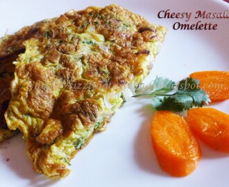 Cheesy Egg Masala Omelette
