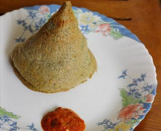 Oats green gram dosa