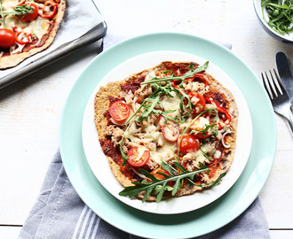 Sweet potato pizza with tuna