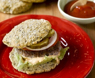 Low-Carb Burger buns with Sukrin Bread Mix