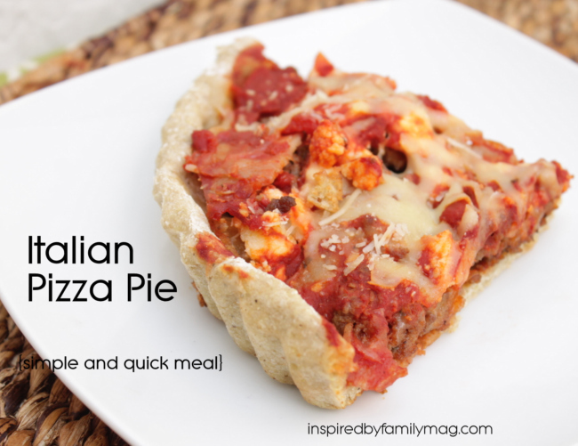 Simple Dinner: Italian Pizza Pie