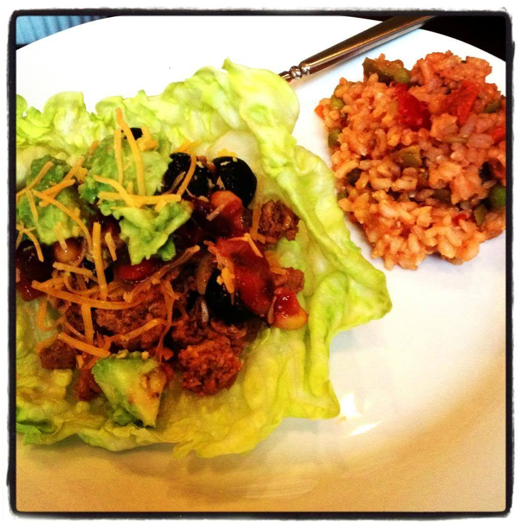 Mexican Lettuce Wraps & Spanish Rice