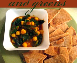 Indian Chickpeas and Greens