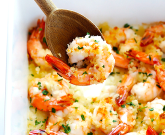 Garlicky Baked Shrimp