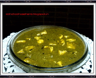 Palak Paneer | A North Indian Paneer Recipe