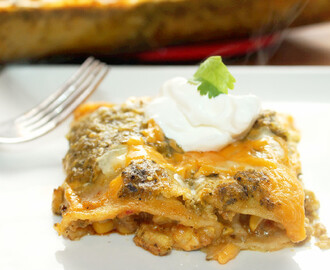 Chipotle Chicken Enchiladas with Elote Salsa