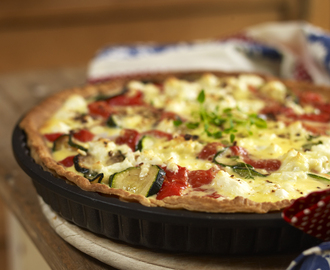 Pepper, Leek and Stilton Quiche - George Wilkinson Bakeware Guest Post