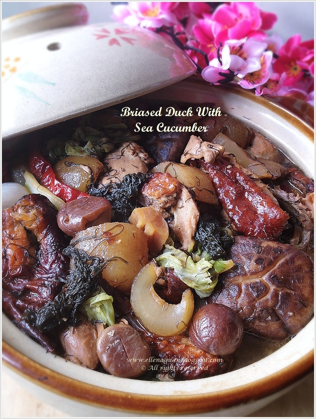 {Mobile Post} Braised Duck With Sea Cucumber