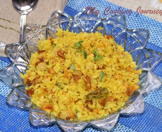 Kanda Batata Poha/Flattened rice cooked with potato and Onion
