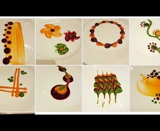 Types of colorful Plating techniques| Part 2 | Art on the plate| By MONIKA TALWAR - YouTube
