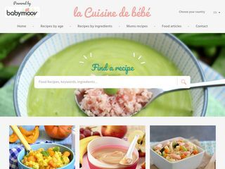 "Blog ""Cooking baby food"""
