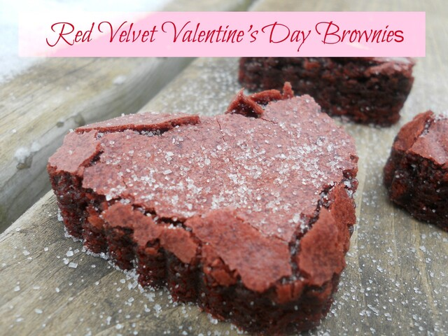 Red Velvet Valentine's Day Brownies