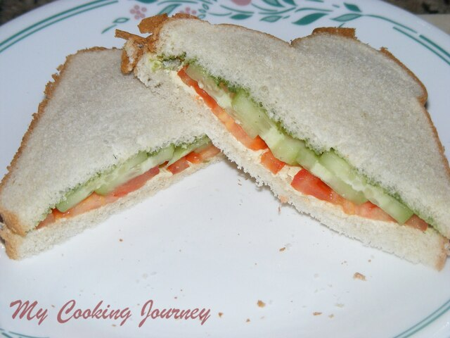 Simple Bread Sandwich - Blogging Marathon #25