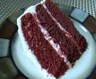 Red Velvet Cake With Cream Cheese Frosting…..