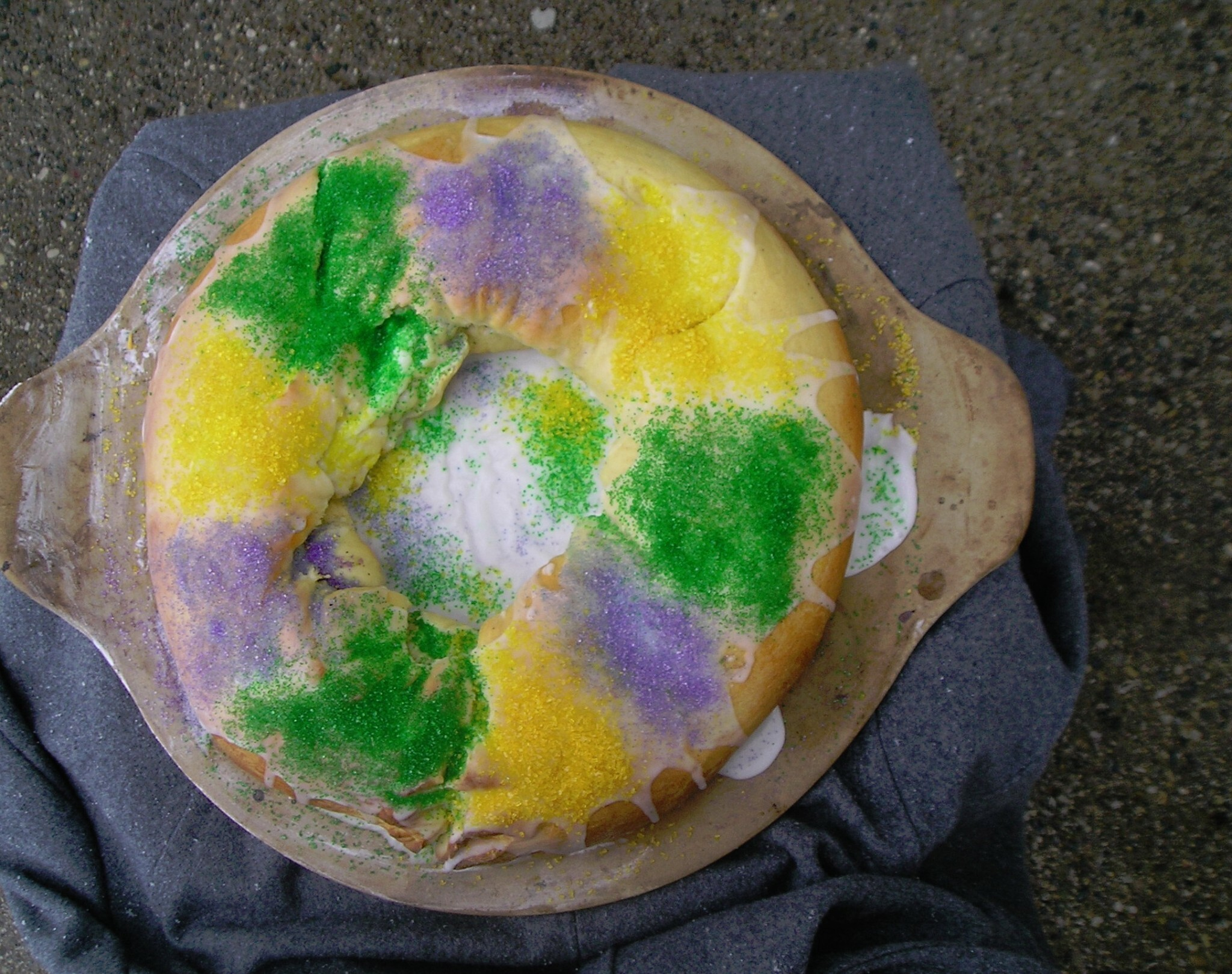 King Cake for Epiphany or Mardi Gras