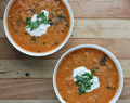 Warming winter lentil and coconut soup