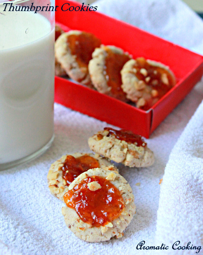Thumbprint Cookies, Eggless