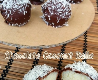 Recipe of Coconut Chocolate Ladoos | How to Make Chocolate Coconut Balls